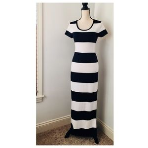 Gap Black & White Striped Dress